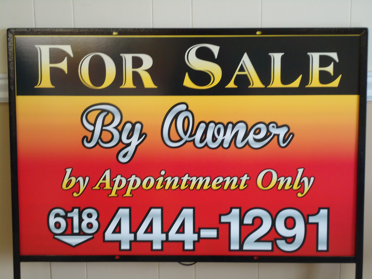 For Sale by Owner slip in
