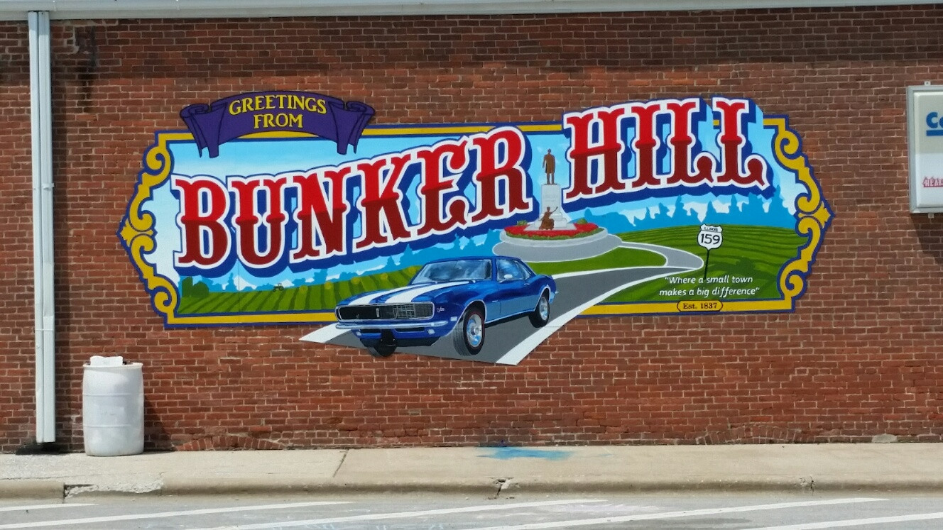 Bunker Hill Center of Town Mural