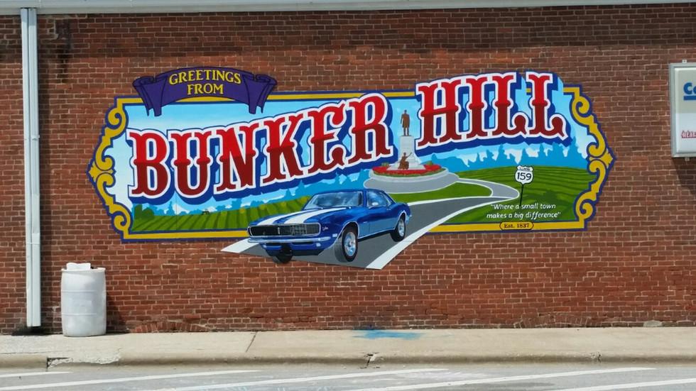 Bunker Hill Center of Town Mural