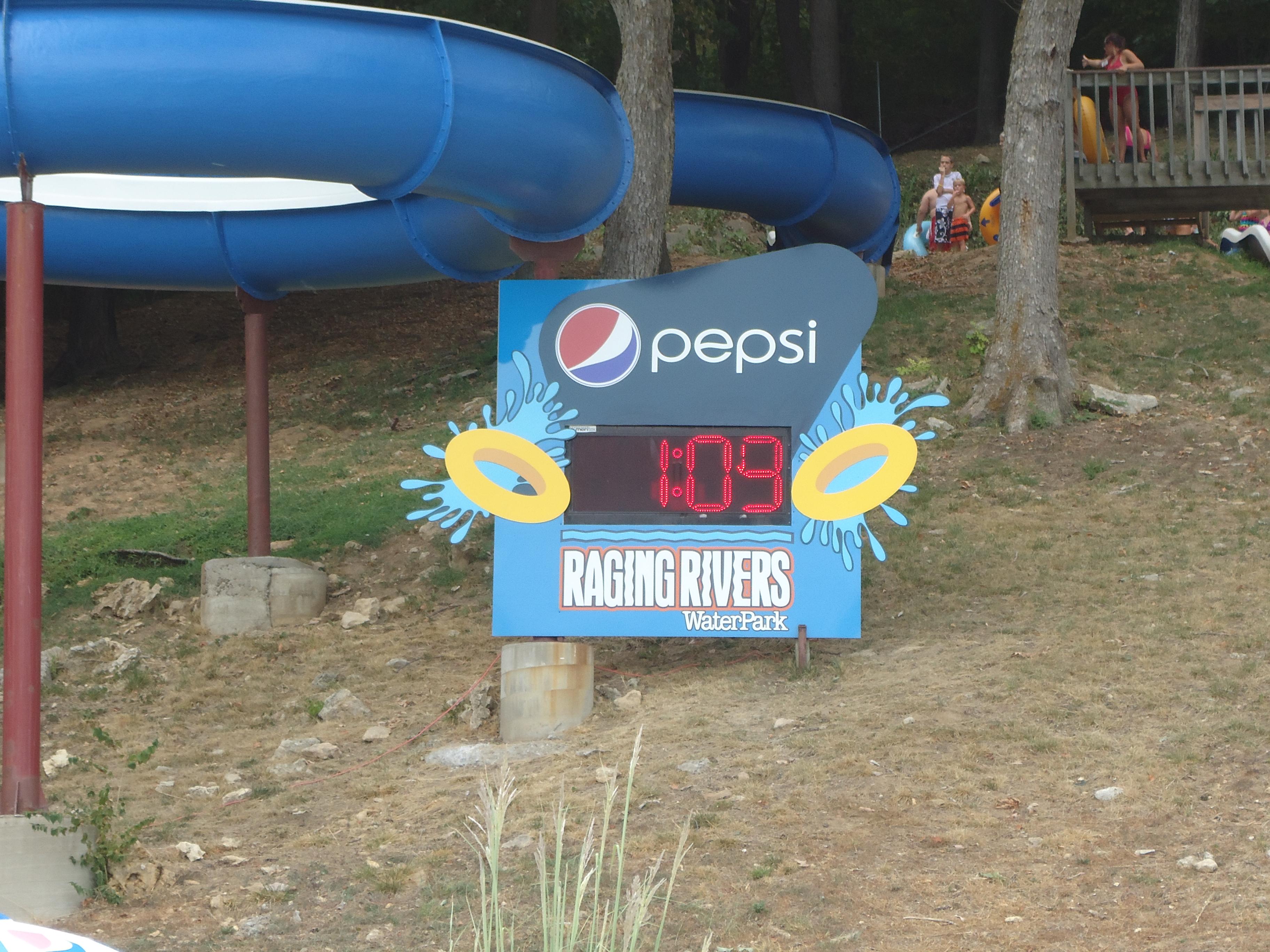 Raging Rivers Pepsi Clock 2012