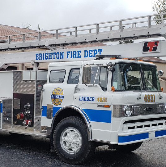 Brighton Fire Dept Ladder Truck
