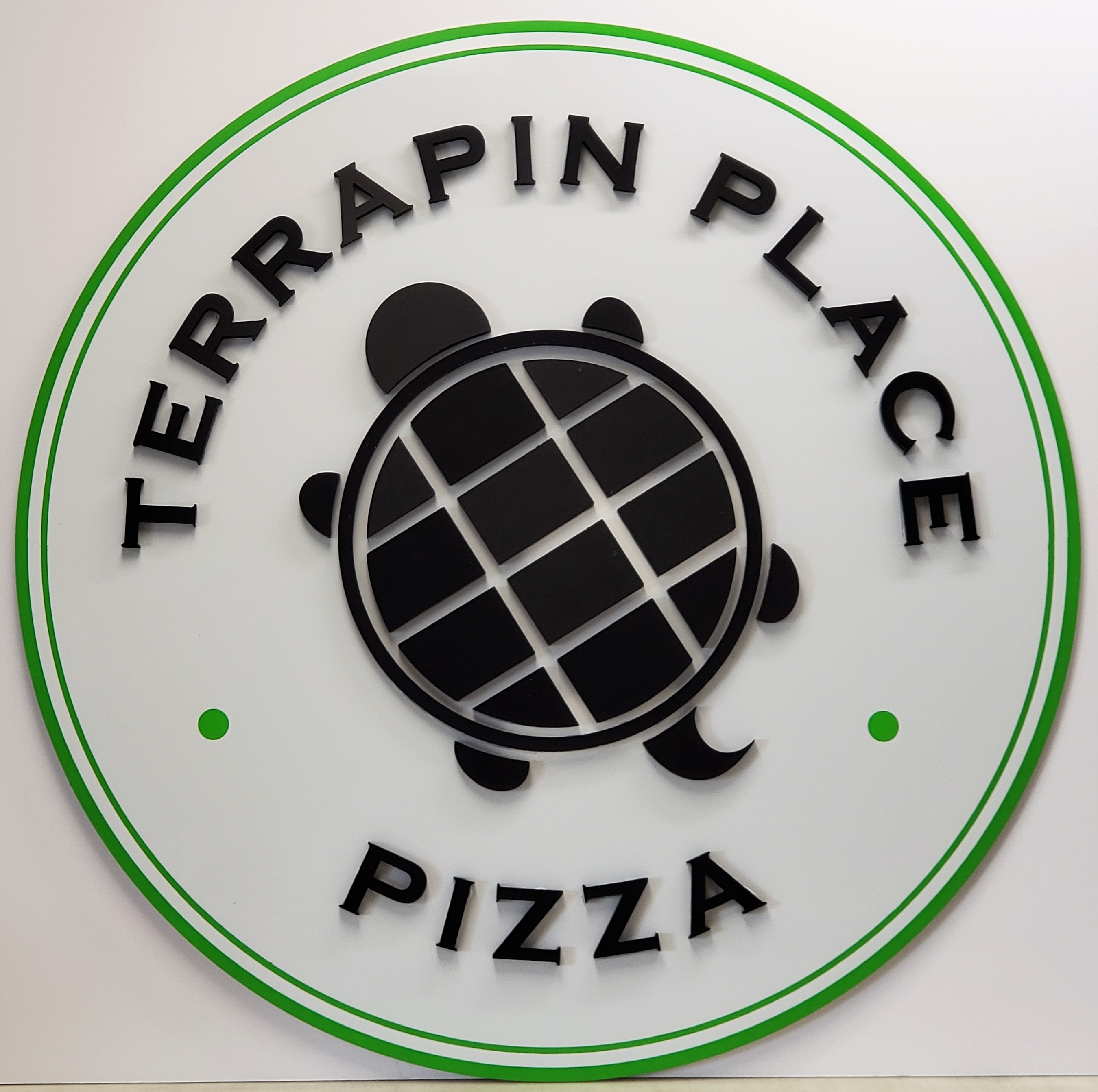Terrapin Place Pizza Sign 3D