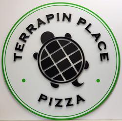Terrapin Place Pizza Sign 3D