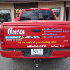 Hansen Plumbing tailgate