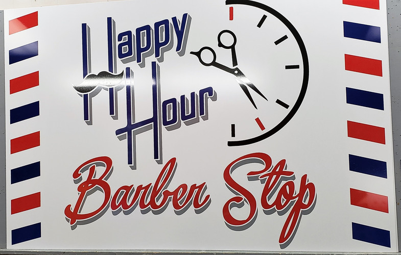 Happy Hour Barber Sign