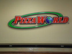 Pizza World 3D sign