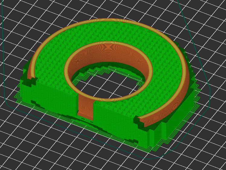 For this object, you would need to use PVA for all the support since it would be hard to remove the inside support material.