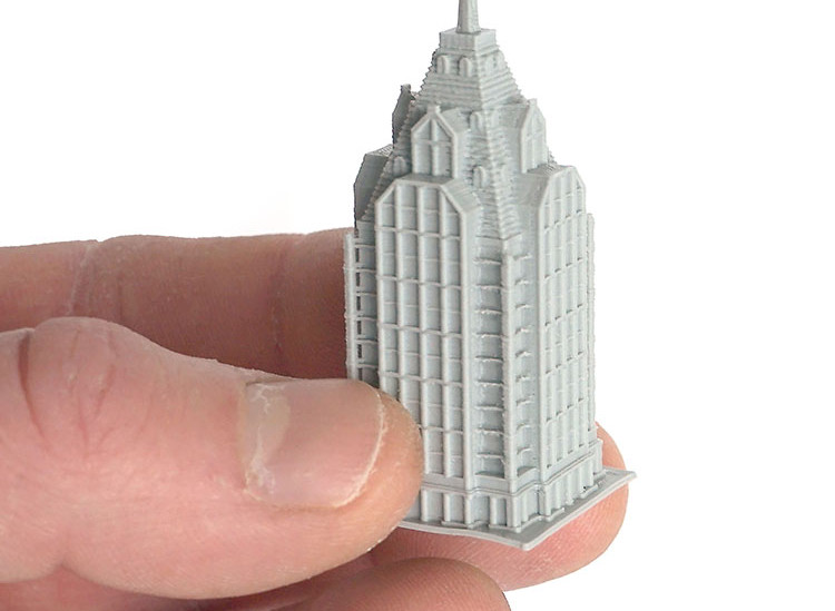 Mini 3D Printed Building with a 0.25mm Nozzle on the gMax 2 PRO