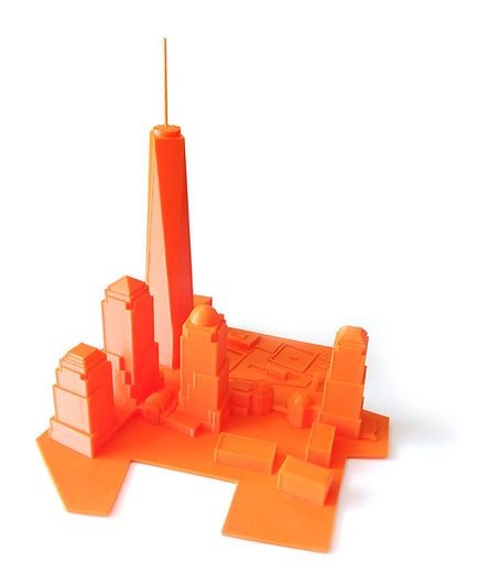 gcreate 3d printed NYC skyline model by MaximSachs