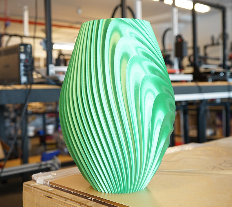 3D Printed twisted vase
