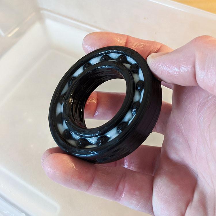 3D Printed PVA Bearing on the gMax 2