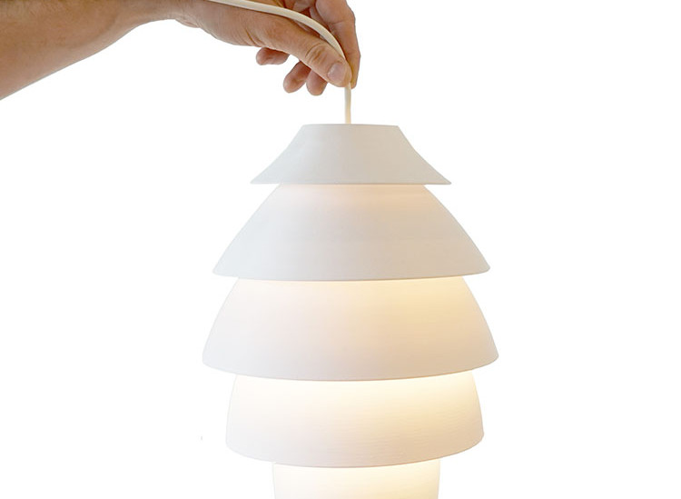 Large 5 Tier 3D Printed Lamp on the gMax 3D Printer