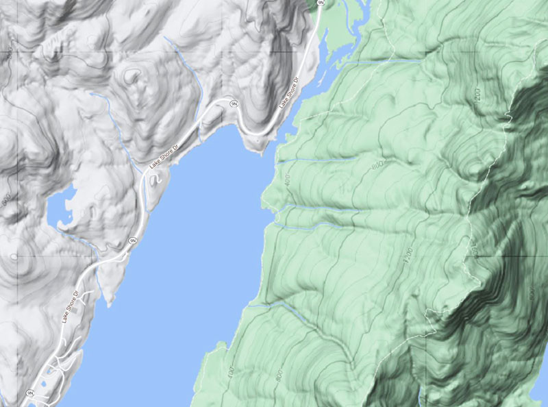 A Topographic map image of Lake George NY