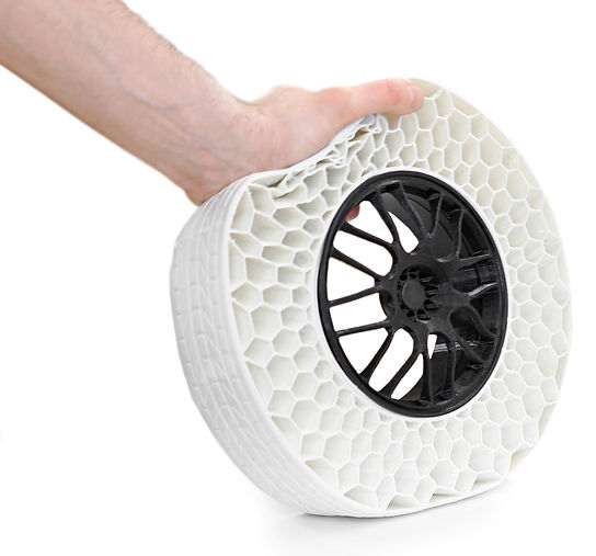 gCreate 3D Printed Airless TPU Tire. Model by GTLMakes.