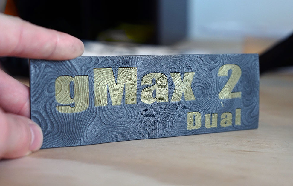 Dual Metalfill 3D Print Example
