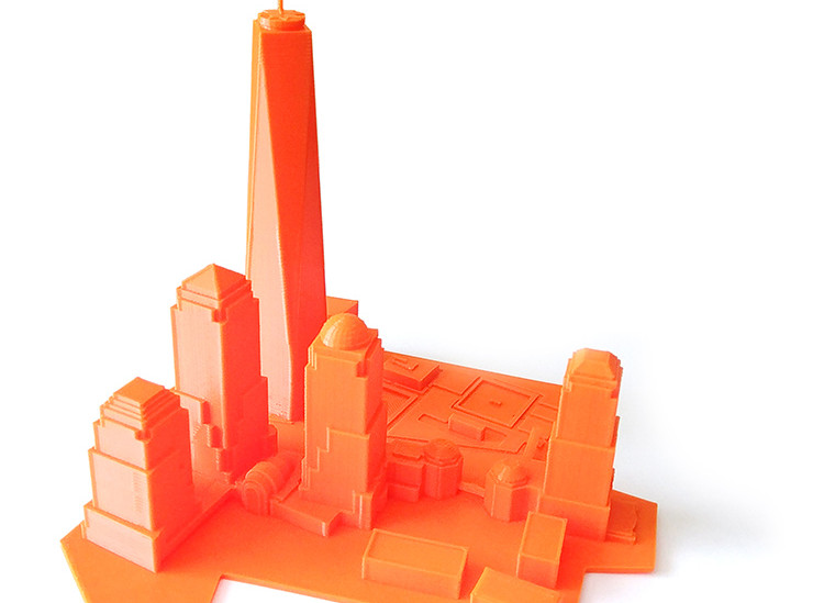 NYC Skyline 3D Print on the gMax Printer in PLA