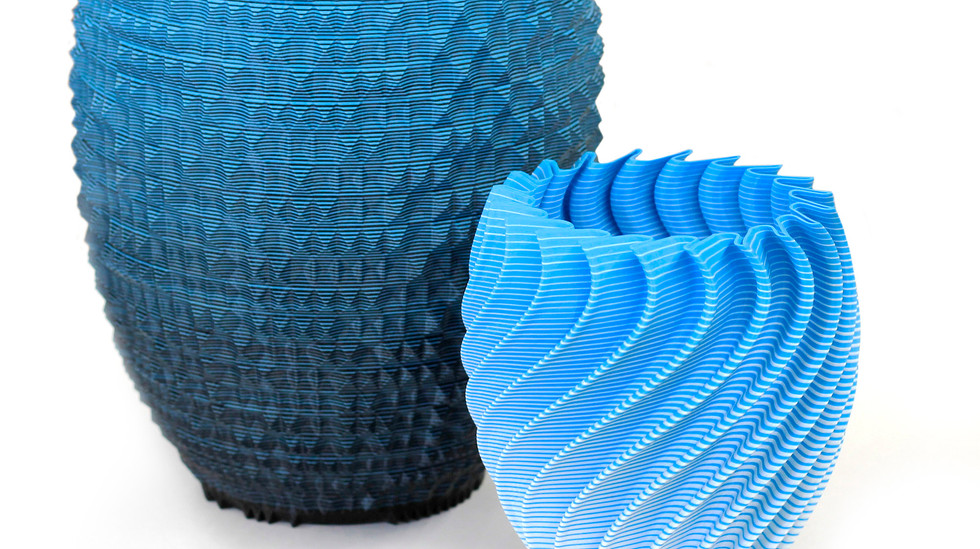 Gradient Vases 3D Printed Using the Mosaic Palette on the gMax 3D Printer