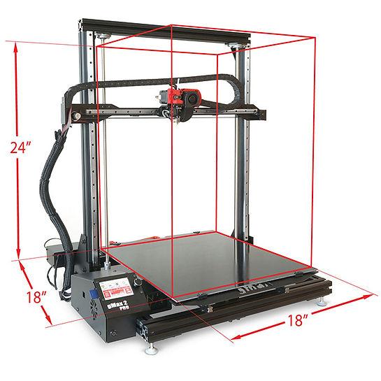 "gCreate gMax 2 PRO 3D Printer Large Format 18"" x 18"" x 24"" Build Volume"