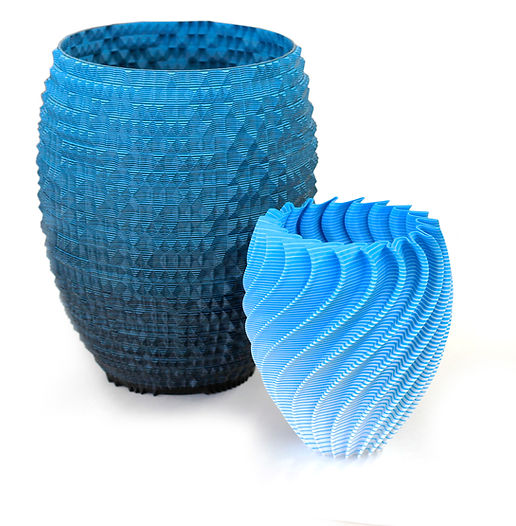 gCreate and Mosaic Manufacturing Multi-Color 3D Printed Vases. Models by GTLMakes.