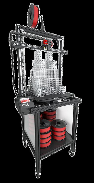 gCreate gMax 2 PRO 3D Printer on Rolling Cart Slice Engineering Copperhead Hotend