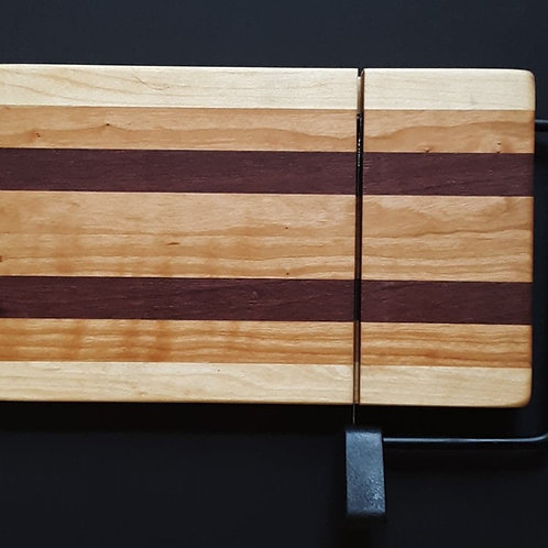 Cherry, Maple and Purple Heart Wood Cheese Slicer