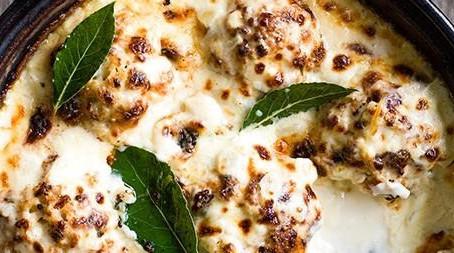 Cauliflower & three-cheese gratin