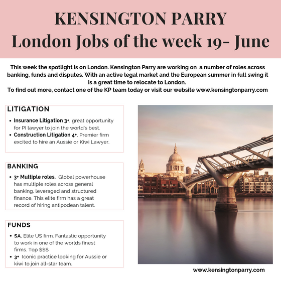 Jobs of the week- spotlight on London