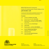 Fields of Communication Nature · Culture · Technology : Royal College of Art Symposium