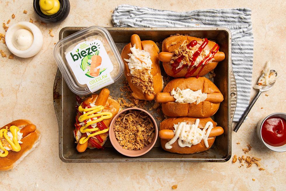 Fancy Hotdogs met Coleslaw