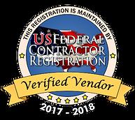 US Federal Contractor Registration Verified Vendor Badge