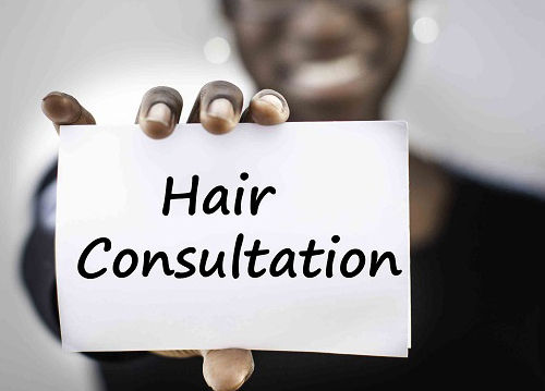 Natural hair consultation