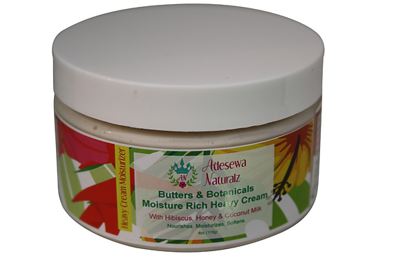 Butters and Botanicals Moisture rich heavy cream