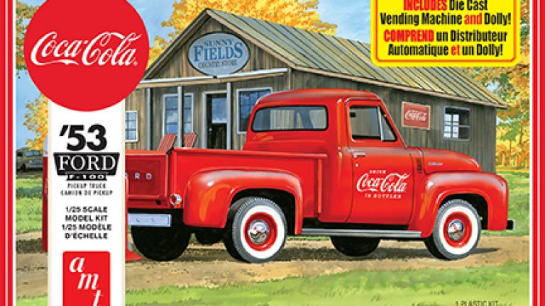 AMT 1953 FORD PICKUP (COCA-COLA) 1:25 SCALE MODEL KIT