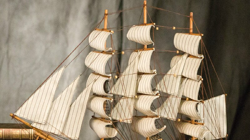[ Assembled ] 60cm Large 3D Wooden Sailboat Model Craft Toys Sailing Boat Ship