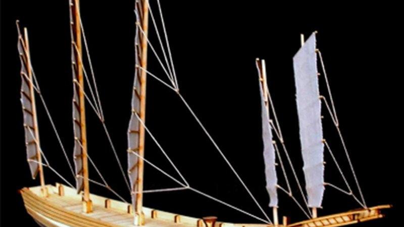 370*65*270mm 1 Set Assembling Building Kits Ship Model Wooden Sailboat