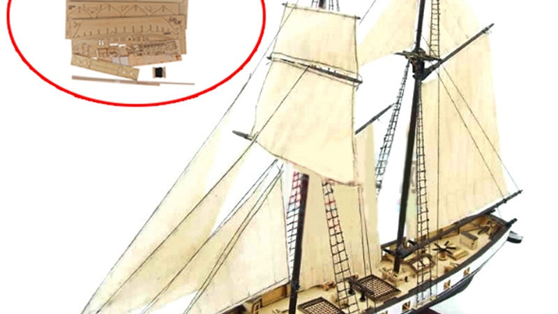 New 1:130 Sailing DIY Ship Assembly Model Classical Wooden Boat Decoration Wood