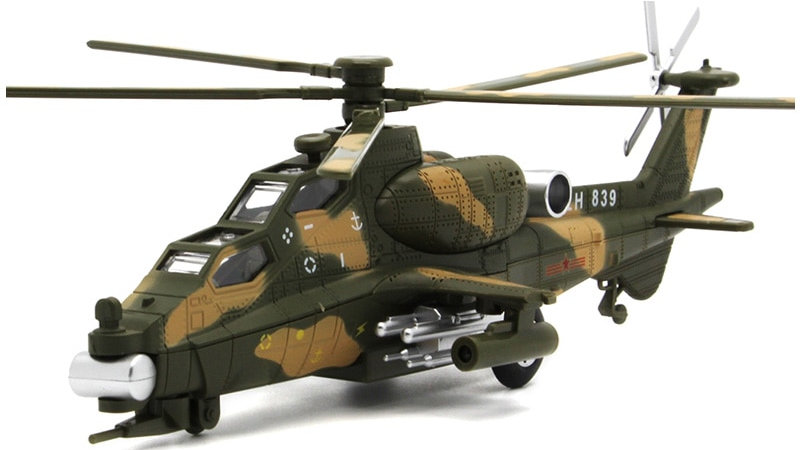 Diecast Military Apache Helicopter Metal Model Aircraft, Airplane, Avion,