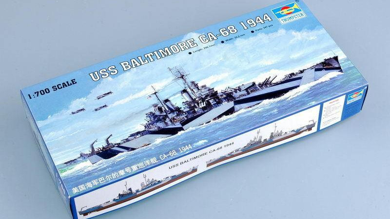 Trumpeter 05725 1/700 USS Baltinore CA-68 1944 Assembly Model Kits