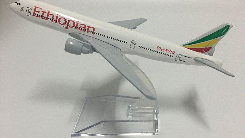 JASON TUTU 16cm Ethiopian Airlines Boeing B777 Plane Model Airplane Aircraft
