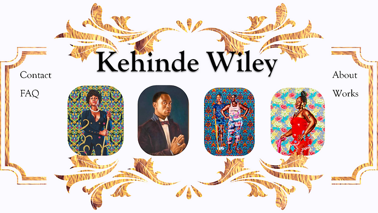 Kehinde Wiley Website Mockup