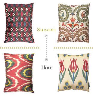 rogoba cushion ロゴバ クッション シルク 刺繍