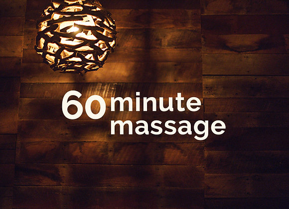 Thursday 5/27 - 9:30am - 60min massage w/Christine