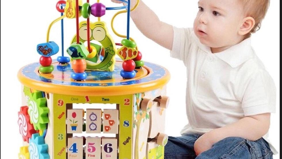 Torre di legno multi gioco Montessori