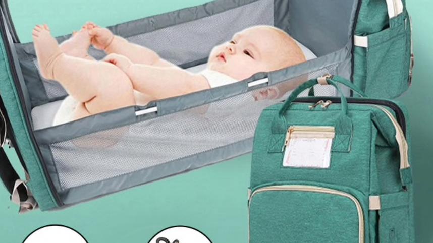 Zaino da viaggio con integrata culla - fasciatoio per neonato