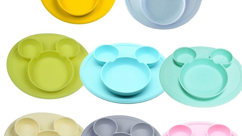 Piattini per bambini in silicone alimentare multispazio