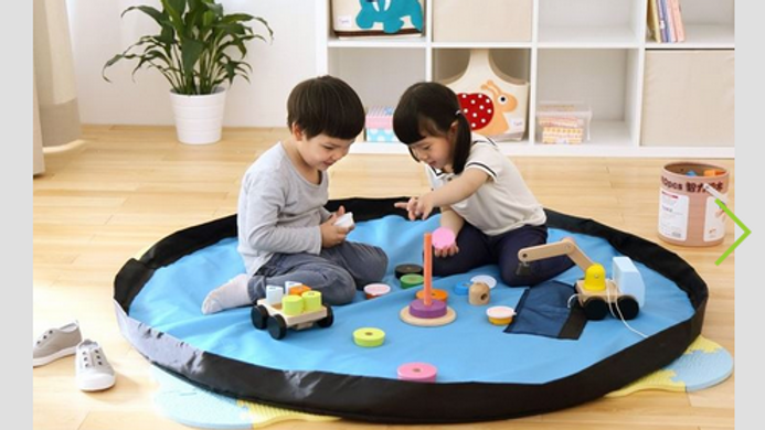 Toy organizer and play mat