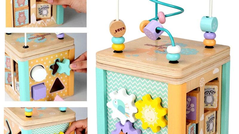 Cubo di legno Montessori multigioco