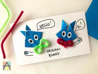 Зайчики оригами