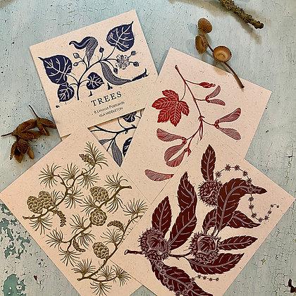 Tree postcards - set of 8