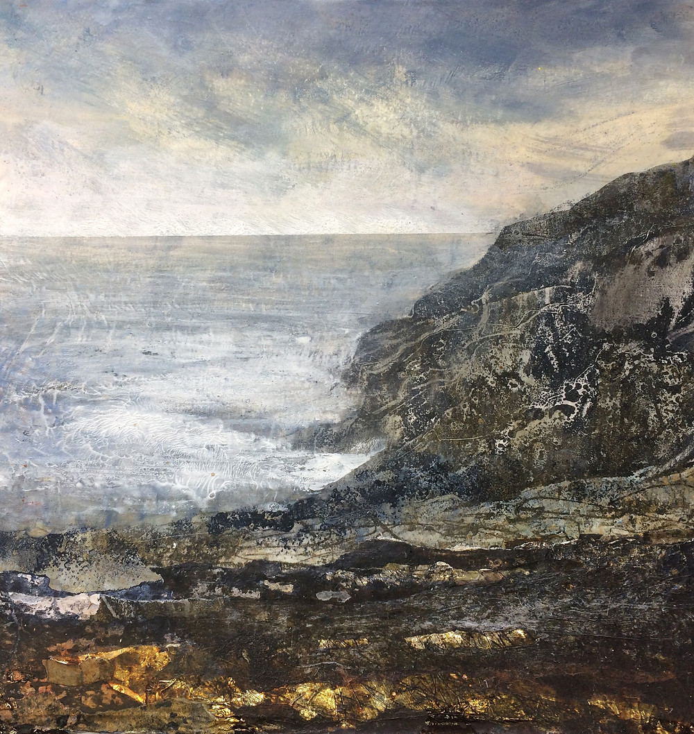 Even in a Storm - Rachel Sargent Dorset landscape coast folde foldedorset